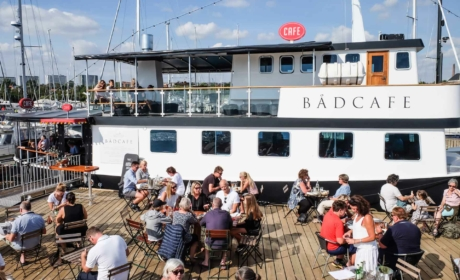 Bådcafé på havnen i Aarhus_-11