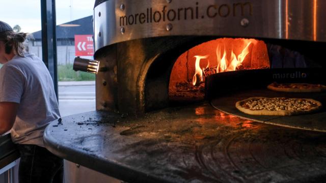 Den store pizzaovn hos Ild.pizza i Risskov