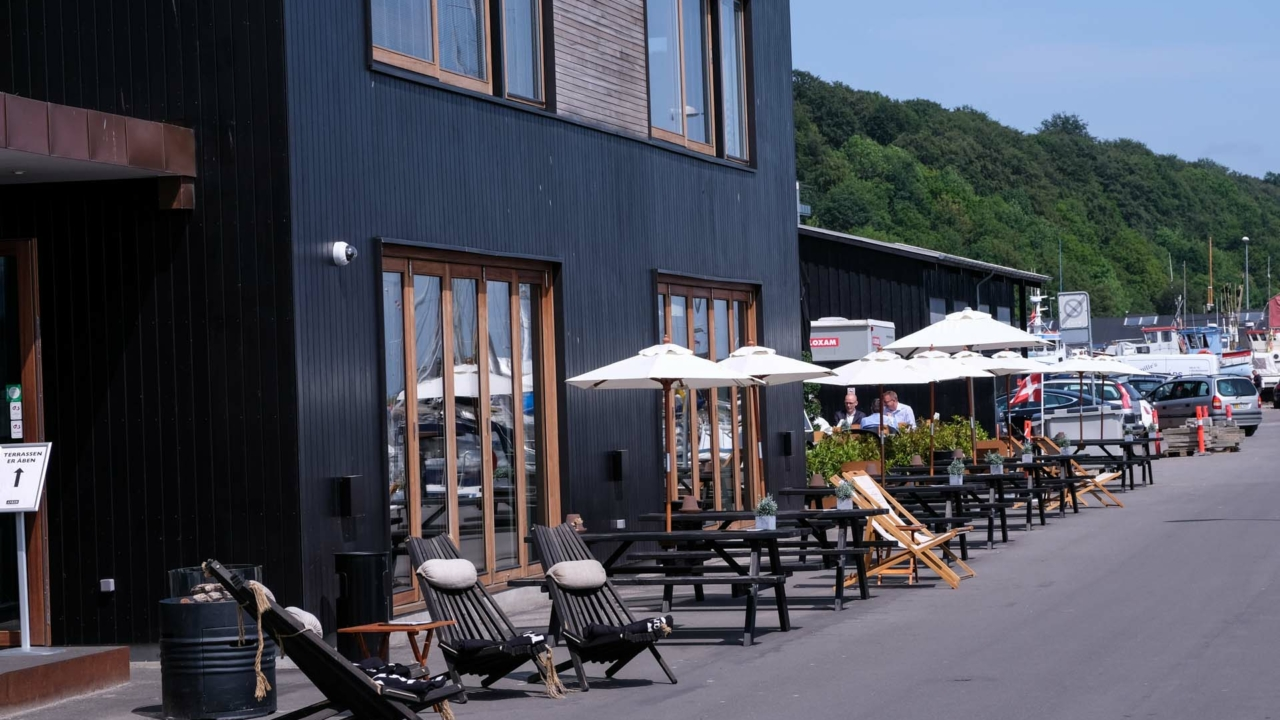 Restaurant Anker på den gamle havn i Aarhus