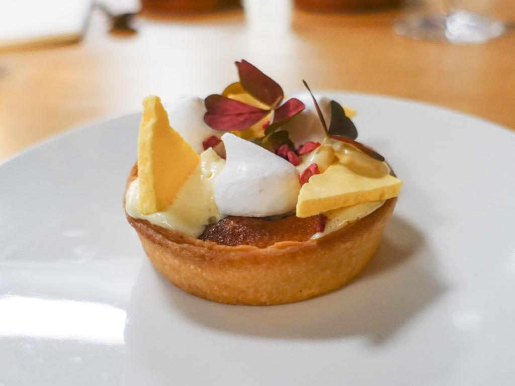 En dessert hos Restaurant Anker