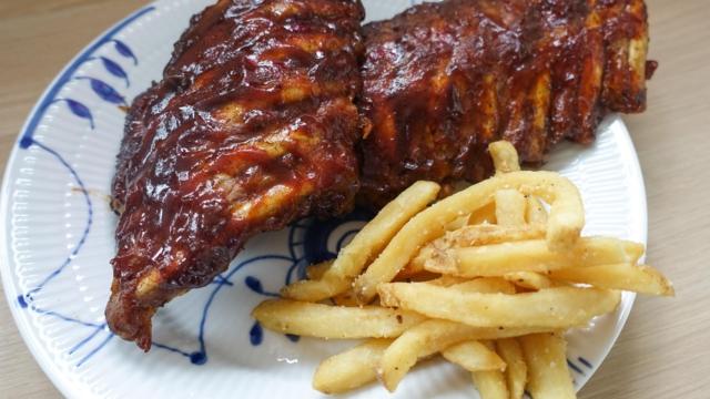 Restaurant Flammen og deres spareribs