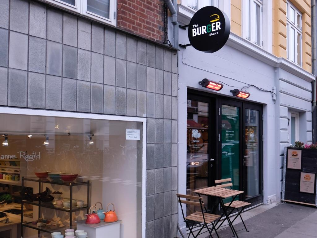 Burger Shack i Jægergårdsgade set udefra