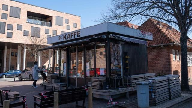 Go' Kaffe på Ingerslevs Boulevard set udefra gaden