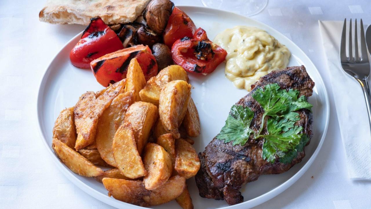 Rib eye hos Restaurant Stromboli
