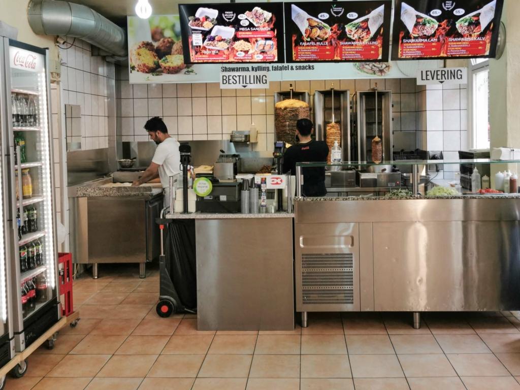 Shawarma King ved Magasin i Aarhus