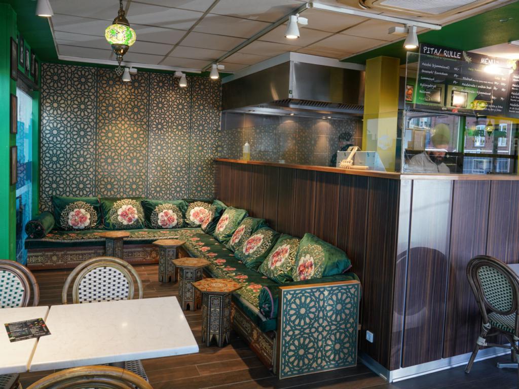 Loungen hos Falafel King i Aarhus - Spiseguiden Aarhus