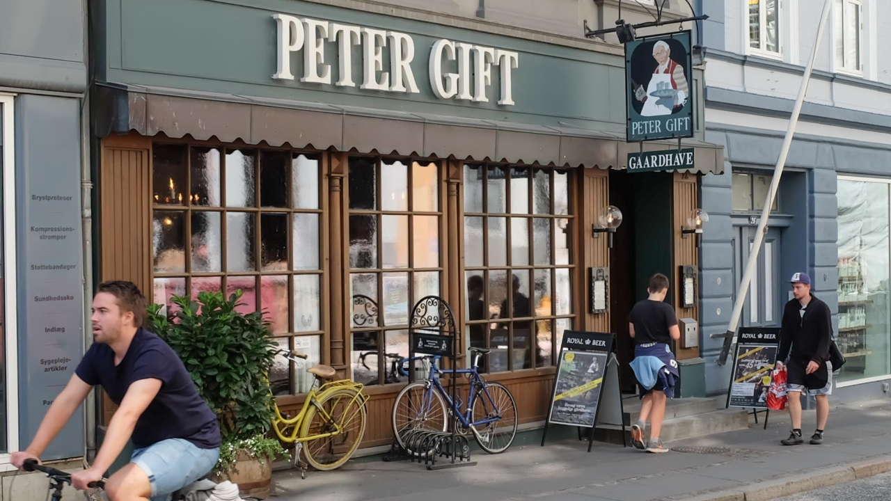 Peter Gift i M.P. Bruunsgade