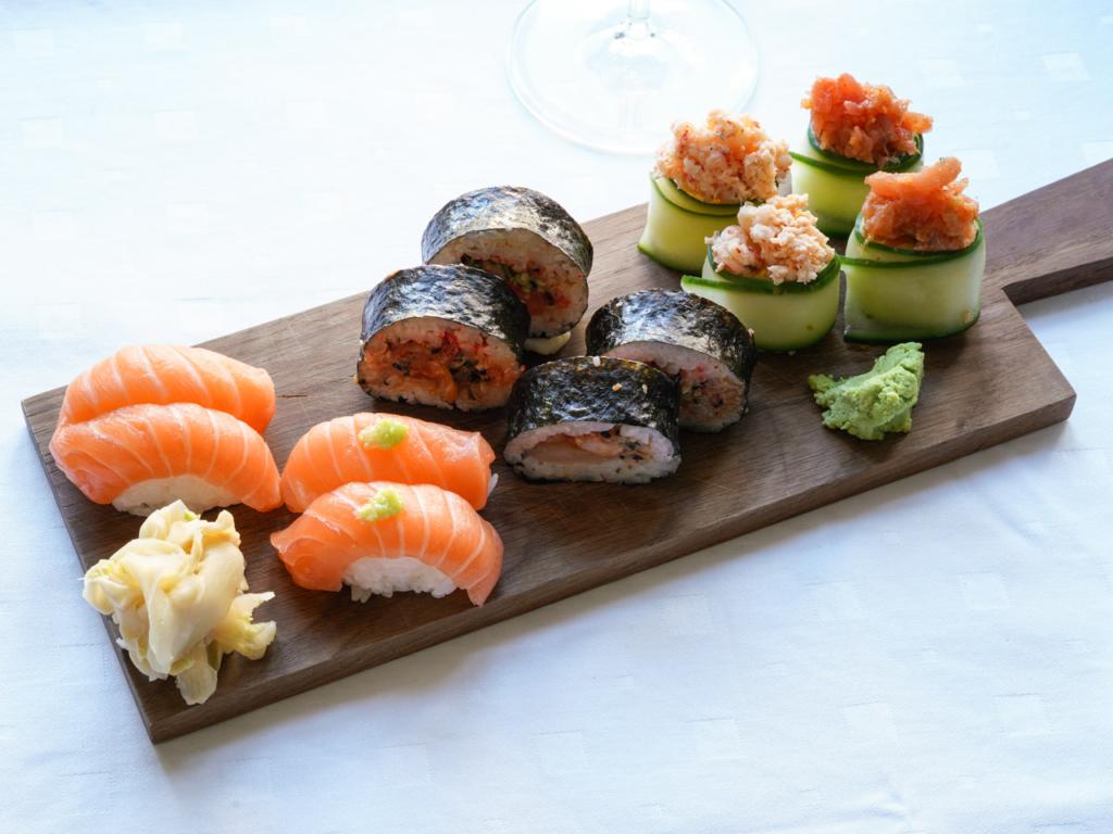 Lidt blandet sushi fra Sota Sushi Bar