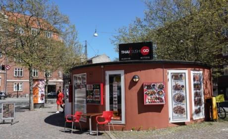 Thai & Sushi set ude fra Vesterbro Torv