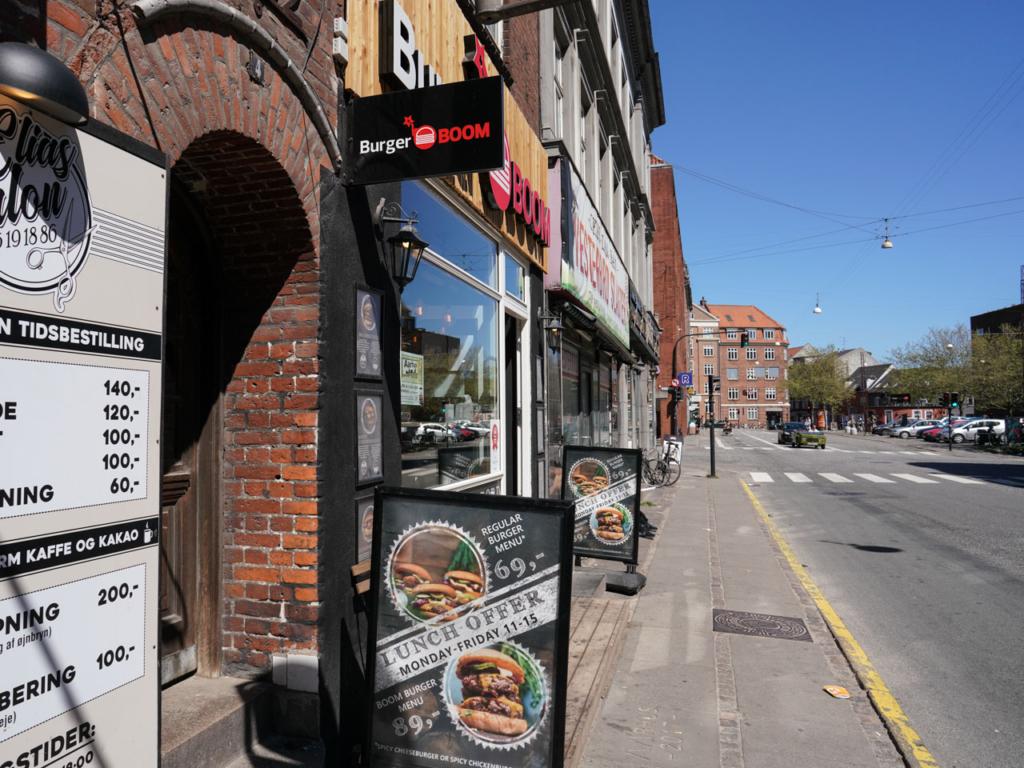 Burger BOOM ved Vesterbro Torv i Aarhus
