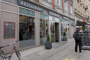 Restaurant Zafran set udefra gaden
